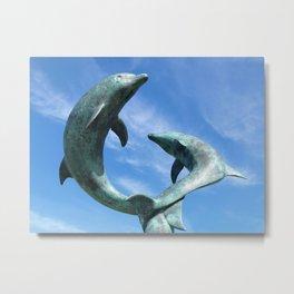 Leaping Tresco Dolphins Metal Print
