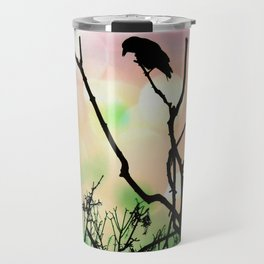 The Lonely Crow At Sunset Travel Mug