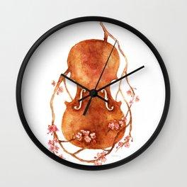 Sakura Violin Wall Clock
