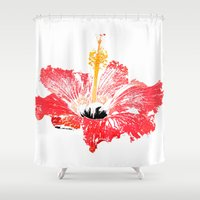 hibiscus Shower Curtains featuring Hibiscus by Regan's World