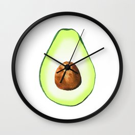 Half Avocado. Tropical Fruit. Wall Clock