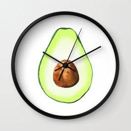 Half Avocado. Tropical Fruit. Wall Clock