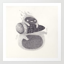 Calcifer Art Print