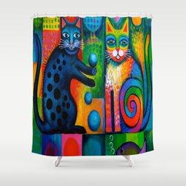 Juggle Puss Shower Curtain