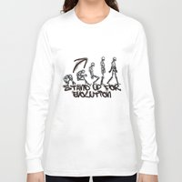 evolution Long Sleeve T-shirts featuring EVOLUTION by AURA-HYSTERICA