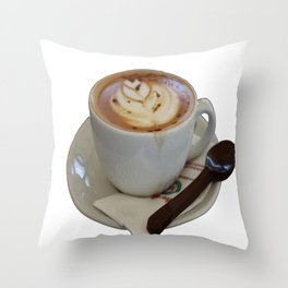 Americano Coffee Vector Throw Pillow