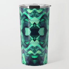 Abstract Surreal Chaos theory in Modern poison turquoise green Travel Mug