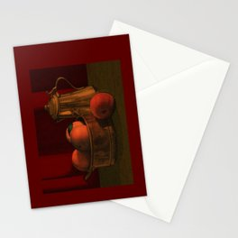 Still life with peaches Stationery Cards