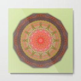 Colors of Rust / mandala-style-rust Metal Print