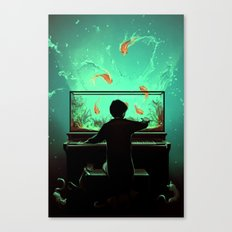 Le Pianoquarium Canvas Print
