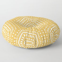 Boho Painted Soft Mustard Floor Pillow