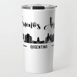 Buenos Aires City Argentina Skyline Black Design Travel Mug