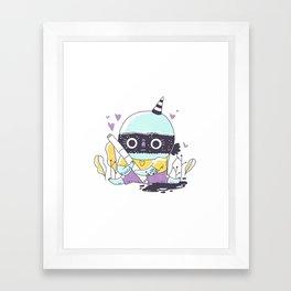 Messy Ink Framed Art Print