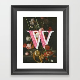 Letter W Framed Art Print