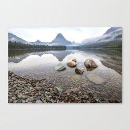 Rocky Lake Mountains Canvas Print