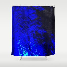 Blue Moon. Fashion Textures Shower Curtain