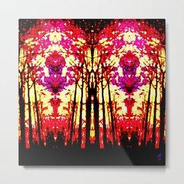 Sunset Stain Glass Metal Print