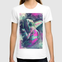 chameleon #chameleon #animals T-shirt