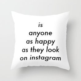 Instagram Throw Pillow