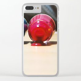 Nail art - color spa Clear iPhone Case