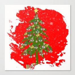 Xmas tree Vignette Canvas Print