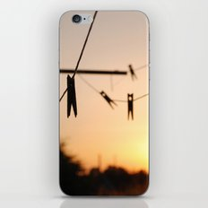 Swallows on a wire iPhone & iPod Skin