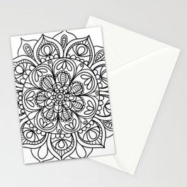 Mandala Black 3 Stationery Cards