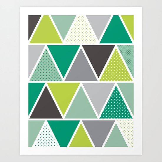 Triangulum - Emerald Art Print