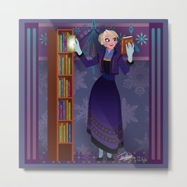Frozen Elsa Casual Metal Print