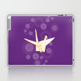 Paper Crane and Cherry Blossoms Laptop & iPad Skin