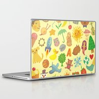 be happy Laptop & iPad Skins featuring Happy by Vlad Stankovic