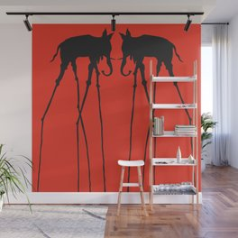 Salvador Dali Elephants Wall Mural