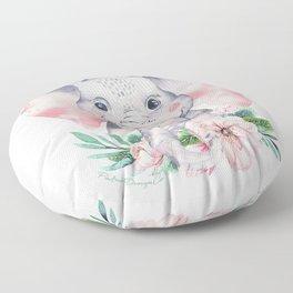 Floral Elephant - Kid Series  Floor Pillow