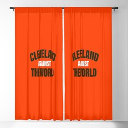 Cleveland Against The World Football Blackout Curtain