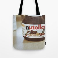 nutella Tote Bags featuring Nutella by Danielle Clark