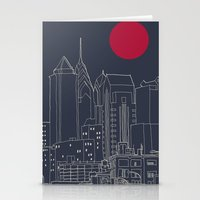 blueprint Stationery Cards featuring Philly Blueprint by ralexandertrejo