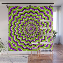 Optical Illusion moving pattern Wall Mural