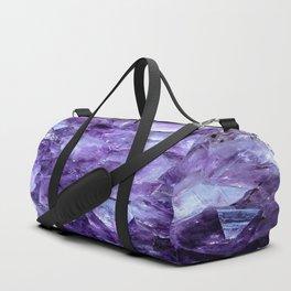 Amethyst Crystals Duffle Bag