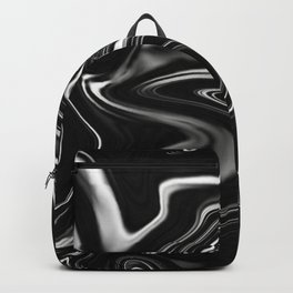 Black Gesso Paint Abstract Backpack