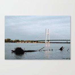 Mississippi River at Burlington, Iowa Canvas Print