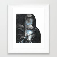 darth Framed Art Prints featuring Darth by Michael Hewitt