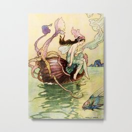 """""""The Nautilus is my Boat"""" by Warwick Goble Metal Print"""