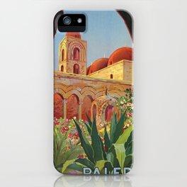 vintage 1920s Palermo Sicily Italian travel ad iPhone Case