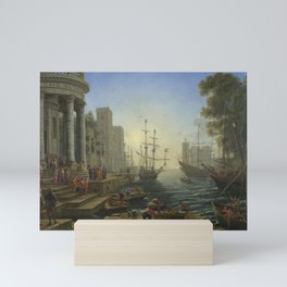 Seaport with the Embarkation of Saint Ursula by Claude Mini Art Print