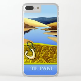 Water Meets Sand: Te Paki Stream Clear iPhone Case