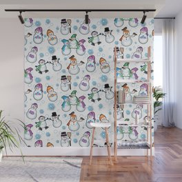 Let it snow! Snow people, snowman by  Beebus Marble Wall Mural