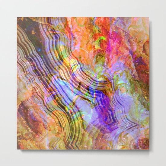abstract crystal x Metal Print