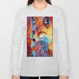 Fox Watercolor Long Sleeve T-shirt