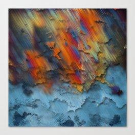 Diagonal Rainbow Redux Canvas Print