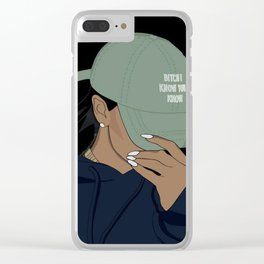 Rude Girl Clear iPhone Case